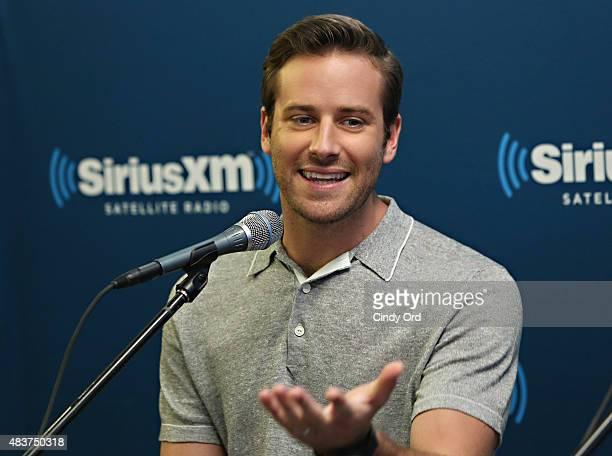 Actor Armie Hammer takes part in SiriusXM's Entertainment Weekly Radio 'The Man from UNCLE' Town Hall with Guy Ritchie Henry Cavill and Armie Hammer...
