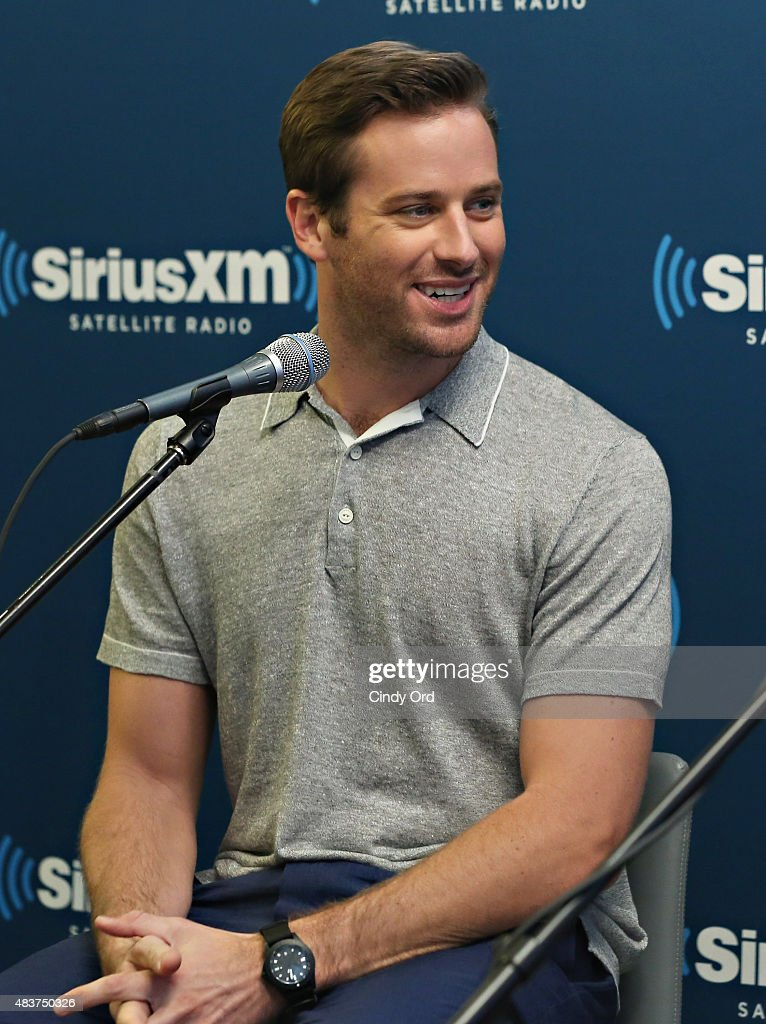 Actor Armie Hammer takes part in SiriusXM's Entertainment Weekly Radio 'The Man from U.N.C.L.E.' Town Hall with Guy Ritchie, Henry Cavill and Armie Hammer on August 12, 2015 in New York City.