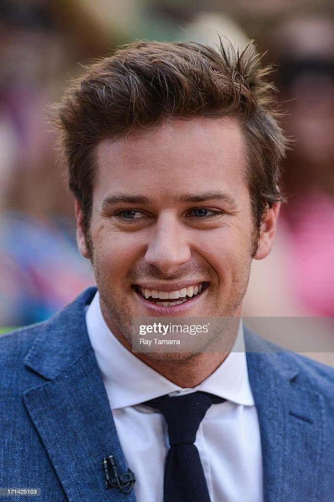 Actor Armie Hammer tapes an interview at 'Good Morning America' at the ABC Times Square Studios on June 24, 2013 in New York City.