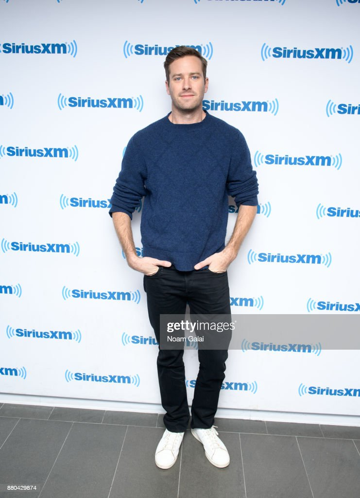 Actor Armie Hammer visits the SiriusXM Studios on November 27, 2017 in New York City.