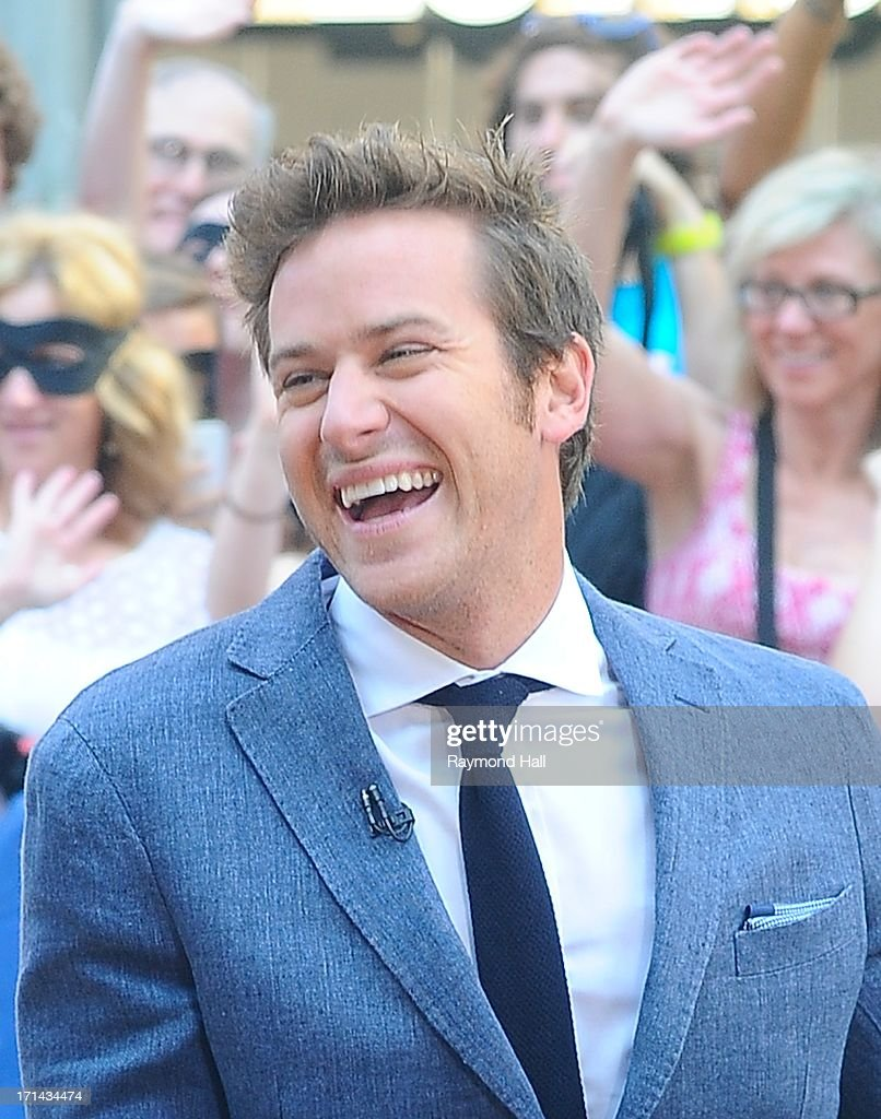 Actor Armie Hammer'Good Morning America' at the ABC Times Square Studios on June 24, 2013 in New York City.