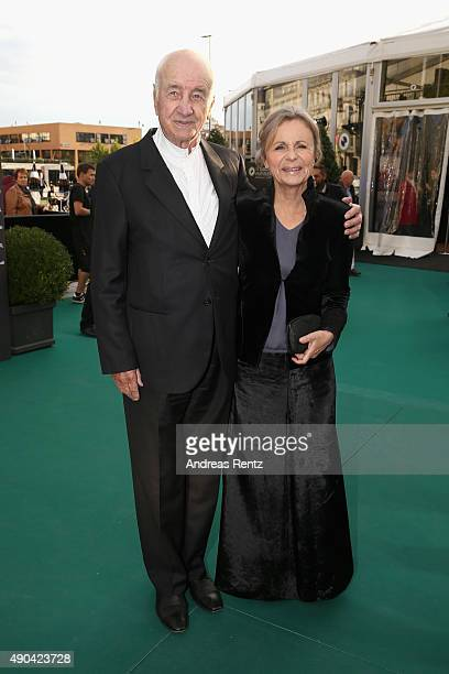 Actor Armin MuellerStahl and Gabriele Scholz attend the Lifetime Achievement Award Ceremony during the Zurich Film Festival on September 28 2015 in...