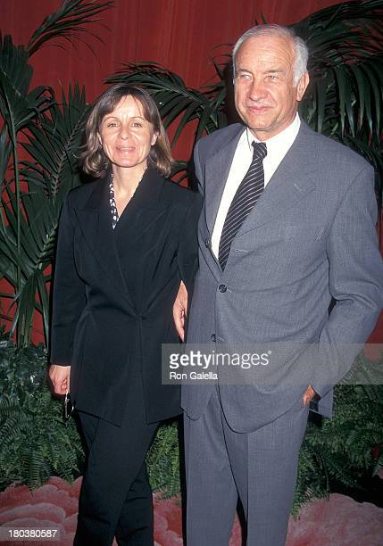 Actor Armin MuellerStahl and wife Gabriele Scholz attend the 69th Annual Academy Awards Nominees Luncheon on March 11 1997 at the Beverly Hilton...