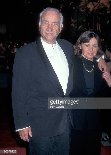Actor Armin MuellerStahl and wife Gabriele Scholz attend the Third Annual Screen Actors Guild Awards on February 23 1997 at the Shrine Exposition...