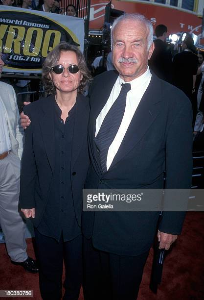 Actor Armin MuellerStahl and wife Gabriele Scholz attend The XFiles Westwood Premiere on June 11 1998 at the Mann Village Theatre in Westwood...