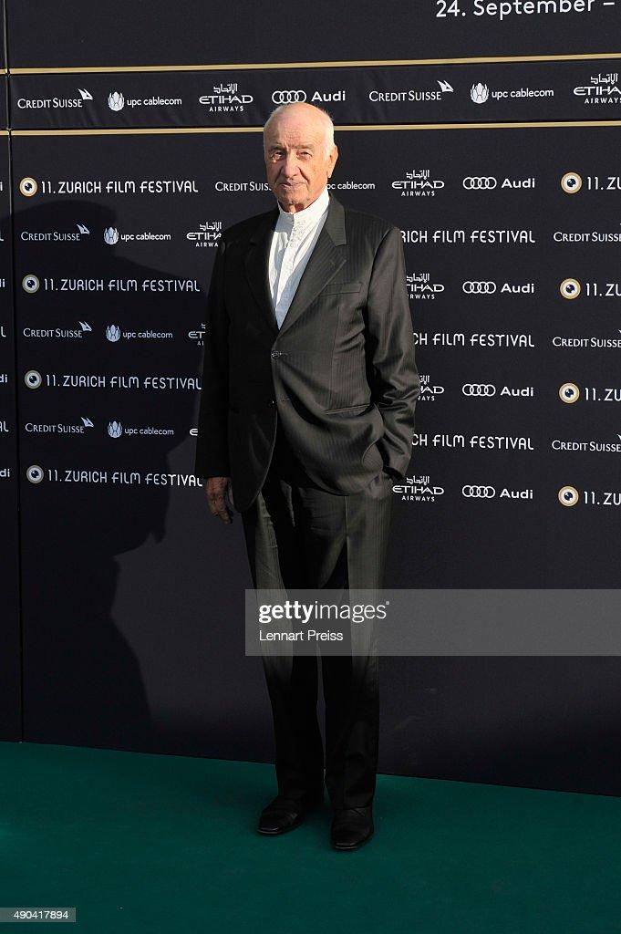 Actor Armin Mueller-Stahl attends the Lifetime Achievement Award Ceremony during the Zurich Film Festival on September 28, 2015 in Zurich, Switzerland. The 11th Zurich Film Festival will take place from September 23 until October 4.