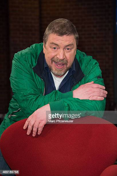 Actor Armin Rohde attends the 'Koelner Treff' TV Show at the WDR Studio on April 10 2015 in Cologne Germany