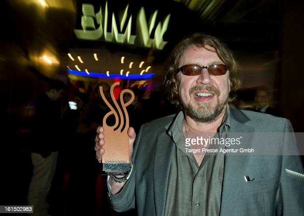 Actor Armin Rohde celebrates his award at the aftershow party of the 'Deutscher Schauspielerpreis' during the 63rd Berlinale International Film...
