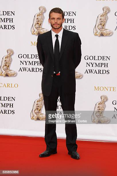 Actor Arnaud Binard arrives at the closing ceremony of the 47th annual Monte Carlo Television Festival held at Grimaldi Forum