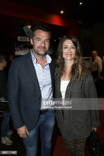 Actor Arnaud Ducret and Writer Diane Ducret attend les Ex Paris Premiere at Cinema Gaumont Capucine on June 6 2017 in Paris France