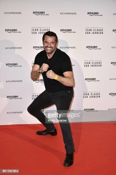 Actor Arnaud Ducret attends the Amazon TV series 'Jean Claude Van Johnson' Premiere at Le Grand Rex on December 12 2017 in Paris France