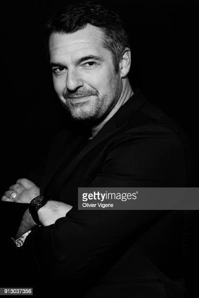 Actor Arnaud Ducret is photographed for Self Assignment on January 2018 in Alpe D'huez France