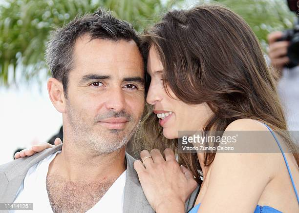 Actor Arnaud Henriet and director Maiwenn Le Besco attend the 'Polisse' photocall at the Palais Des Festivals during the 64th Cannes Film Festival on...