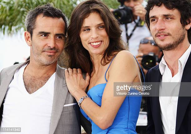 Actor Arnaud Henriet director Maiwenn Le Besco and Jeremie Elkaim attend the 'Polisse' photocall at the Palais Des Festivals during the 64th Cannes...