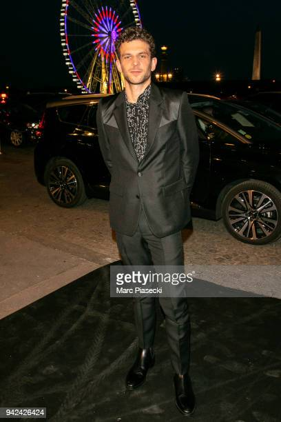 Actor Arnaud Valois arrives to attend the 'Madame Figaro' dinner at Automobile Club de France on April 5 2018 in Paris France