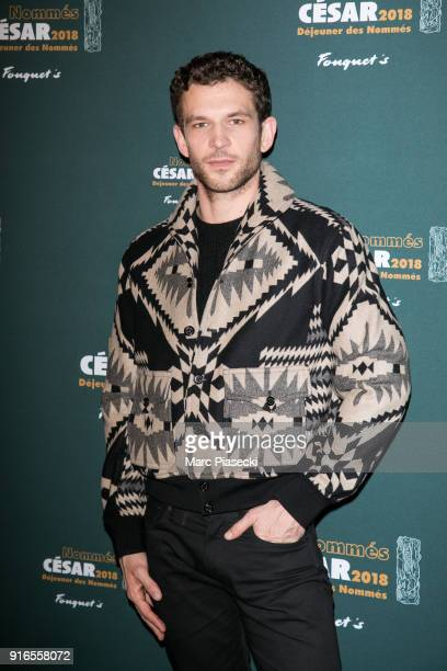 Actor Arnaud Valois attends the 'Cesars 2018 Nominee luncheon' at Le Fouquet's on February 10 2018 in Paris France
