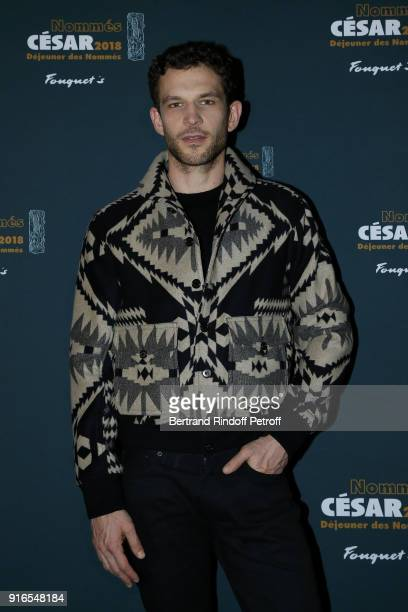 Actor Arnaud Valois wearing Ralph Lauren nominated for Best Up and Coming Actor for the film '120 Battements Par Minute' attends the Cesar 2018...