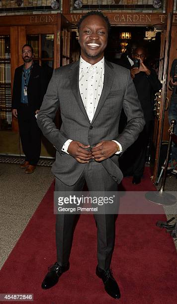 Actor Arnold Oceng attends The Good Lie premiere during the 2014 Toronto International Film Festival at The Elgin on September 7 2014 in Toronto...