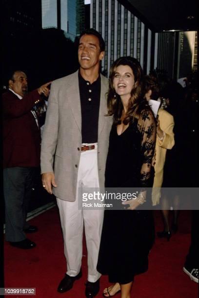 Actor Arnold Schwarzenegger and his wife actress Maria Shriver