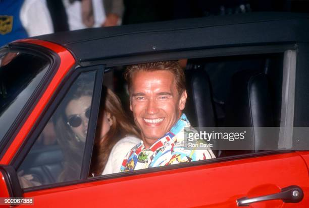 Actor Arnold Schwarzenegger and wife Maria Shriver attend the wedding of Whoopi Goldberg and Lyle Trachtenberg at Whoopi's home on October 1 1994 in...