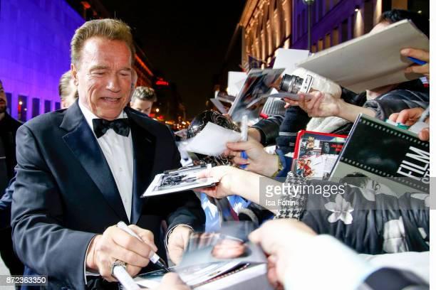 US actor Arnold Schwarzenegger arrives for the GQ Men of the year Award 2017 at Komische Oper on November 9 2017 in Berlin Germany