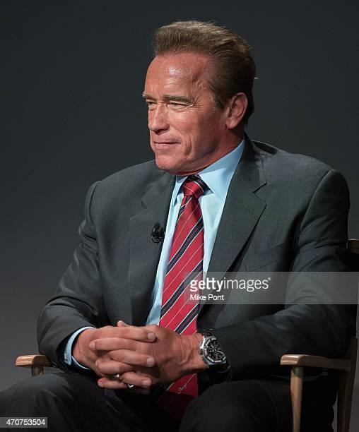 """Actor Arnold Schwarzenegger attends Apple Store Soho Presents Tribeca Film Festival: Henry Hobson and Arnold Schwarzenegger, """"Maggie"""" at Apple Store..."""