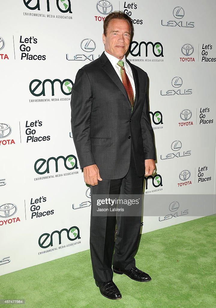 Actor Arnold Schwarzenegger attends the 2014 Environmental Media Awards at Warner Bros. Studios on October 18, 2014 in Burbank, California.