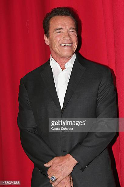 Actor Arnold Schwarzenegger attends the European Premiere of 'Terminator Genisys' at the CineStar Sony Center on June 21 2015 in Berlin Germany