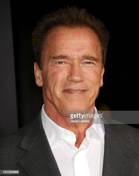 """Actor Arnold Schwarzenegger attends the premiere of """"End of Watch"""" at Regal Cinemas L.A. Live on September 17, 2012 in Los Angeles, California."""