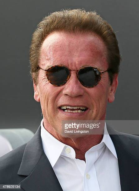 Actor Arnold Schwarzenegger attends the premiere of Paramount Pictures' Terminator Genisys at the Dolby Theatre on June 28 2015 in Hollywood...