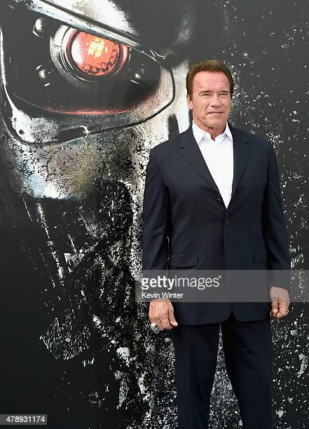 Actor Arnold Schwarzenegger attends the LA Premiere of Paramount Pictures' 'Terminator Genisys' at the Dolby Theatre on June 28 2015 in Hollywood...