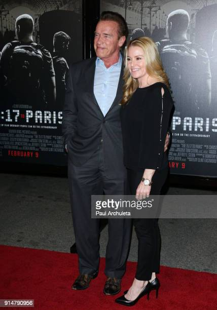 Actor Arnold Schwarzenegger attends the premiere of 'The 1517 To Paris' at Warner Bros Studios on February 5 2018 in Burbank California
