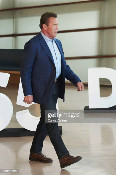 Actor Arnold Schwarzenegger attends the 'Wonder Of The Sea 3D' photocall at the Kursaal Palace during the 65th San Sebastian International Film...