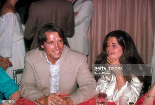 Actor Arnold Schwarzenegger with Maria Shriver.