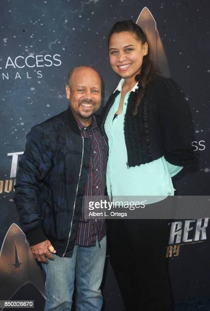 Actor Aron Eisenberg and fiance Malissa arrive for the Premiere Of CBS's 'Star Trek Discovery' held at The Cinerama Dome on September 19 2017 in Los...