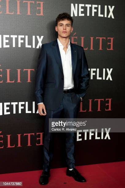 Actor Aron Piper attends 'Elite' premiere at Reina Sofia Museum on October 2 2018 in Madrid Spain