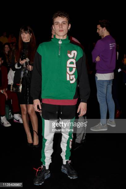 Actor Aron Piper attends the Brain Beast fashion show during the Mercedes Benz Fashion Week Autumn/Winter 20192020 at Ifema on January 27 2019 in...