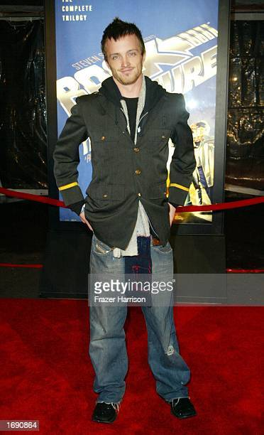 Actor Arron Paul who attended the launch party of the 'Back to the Future' DVD release held at Universal Studios on December 16 2002 in Hollywood...