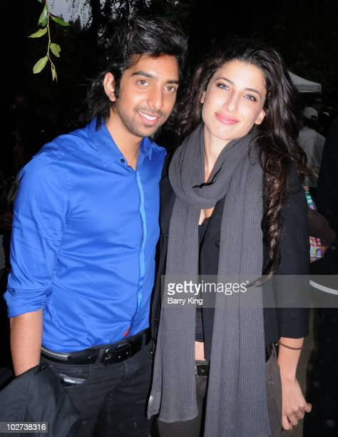 Actor Arshad Aslam and actress Tania Raymonde attend Venice Magazine's 10th Annual Hollywood Bowl PreConcert Picnic at the Hollywood Bowl on July 8...