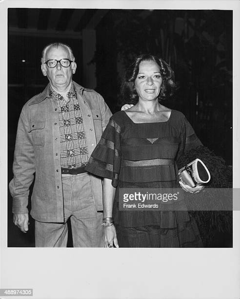 Actor Art Carney and his wife arriving at the Beverly Hills Hotel California September 1975