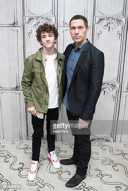 Actor Art Parkinson and director Travis Knight attends the AOL Build Speaker Series to discuss Kubo and the Two Strings at AOL HQ on August 17 2016...