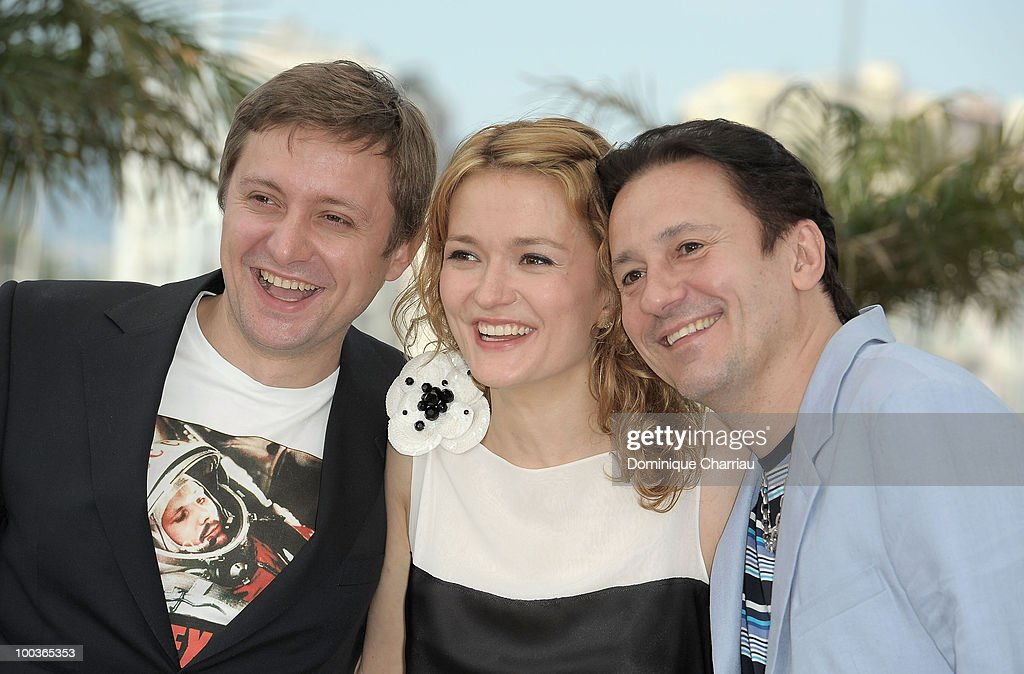 Actor Artem Menshikov, actress Nadezhda Mihalkova and actor Oleg Menshikov attend 'The Exodus - Burnt By The Sun 2' Photo Call held at the Palais des Festivals during the 63rd Annual International Cannes Film Festival on May 22, 2010 in Cannes, France.