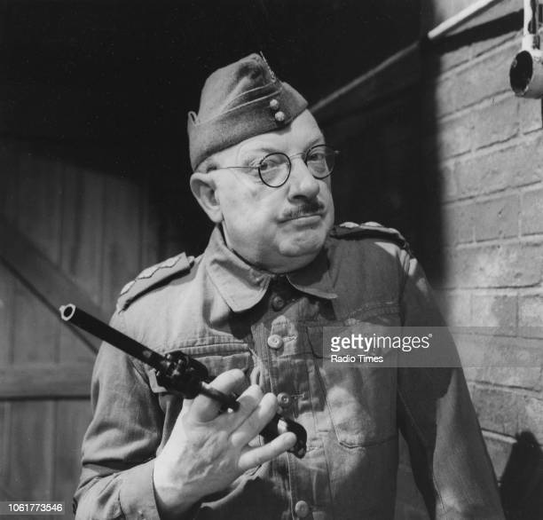 Actor Arthur Lowe in a scene from episode 'Shooting Pains' of the television sitcom 'Dad's Army' May 20th 1968