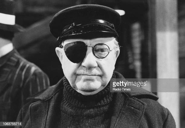 Actor Arthur Lowe wearing an eye patch in a scene from the episode 'Wake up Walmington' of the television sitcom 'Dad's Army' July 8th 1977