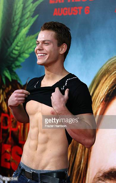 Actor Arthur Napiontek arrives at the Premiere Of Columbia Pictures' 'Pineapple Express' on July 31 2008 at the Mann Village Theatre in Westwood...
