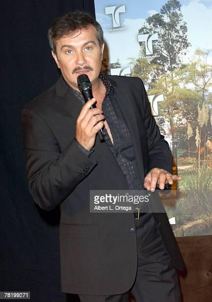 Actor Arturo Peniche participates in the press conference of Telemundo's Spanish soap opera Victoria announcing production in Columbia held at the...