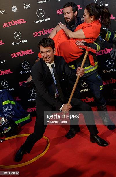 Actor Arturo Valls and actress Neus Asensi attend 'Los del Tunel' premiere at Capitol cinema on January 18 2017 in Madrid Spain