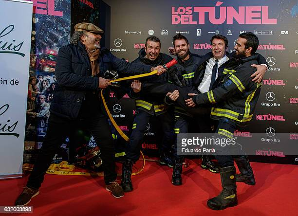 Actor Arturo Valls attends 'Los del Tunel' premiere at Capitol cinema on January 18 2017 in Madrid Spain
