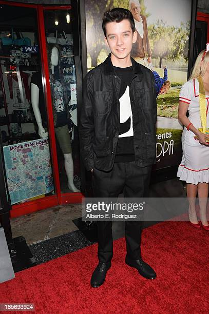 Actor Asa Butterfield arrives to the premiere of Paramount Pictures' 'Jackass Presents Bad Grandpa' on October 23 2013 in Hollywood California