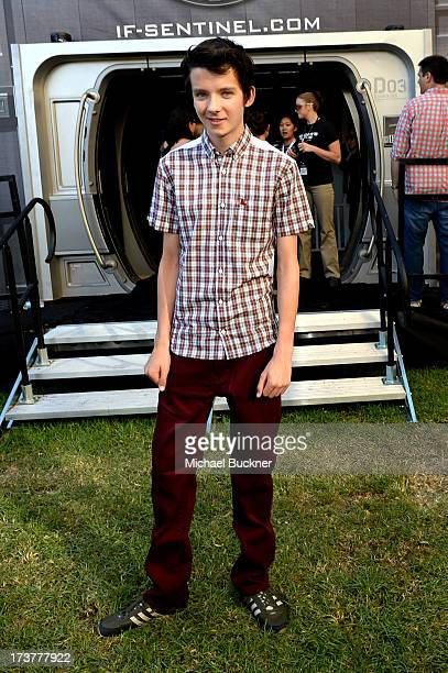 Actor Asa Butterfield attends Ender's Game Experience Press Preview Night Sponsored by HGTV during ComicCon International 2013 at Martin Luther King...